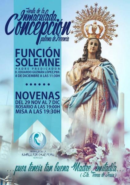 Fiesta en honor a la Inmaculada Concepción