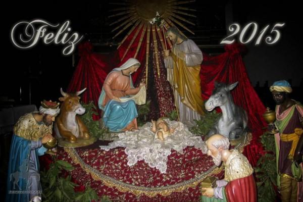 Nacimiento en la iglesia de Herencia.
