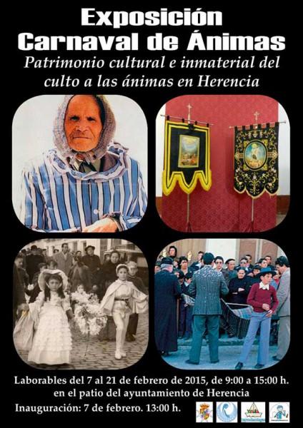 """Cartel exposición """"Carnaval de Herencia, patrimonio Cultural e Inmaterial del culto a las ínimas"""""""