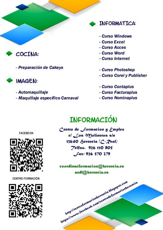 Cursos gratuitos en el Centro de Formación y Empleo