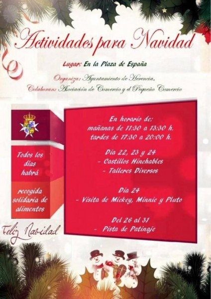 Actividades Navideñas en la plaza de España del 22 al 24