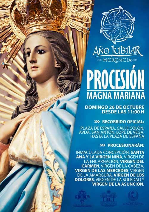 Cartel de la procesión Magna Mariana
