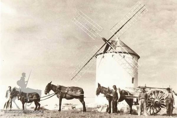 """Reconstrucción del molino """"Maritornes"""" durante los años 50"""