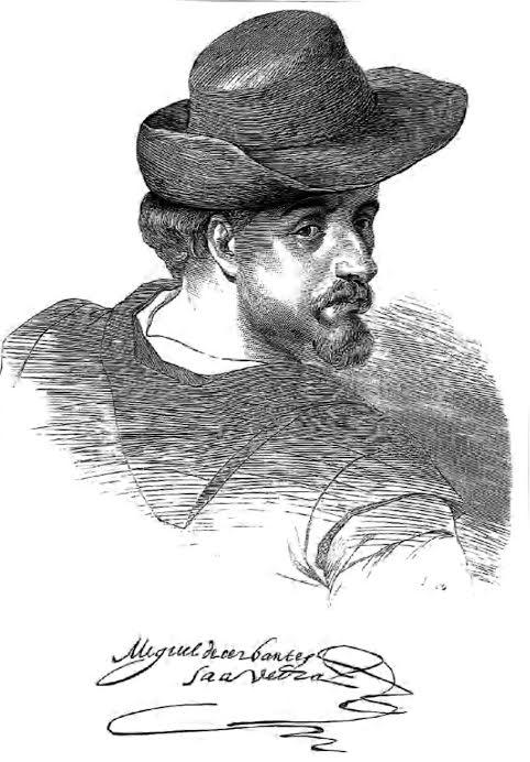 Rostro de Miguel de Cervantes