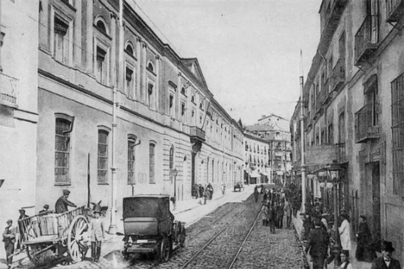 Fachada de la Universidad Central calle San Bernardo [1920-1930]