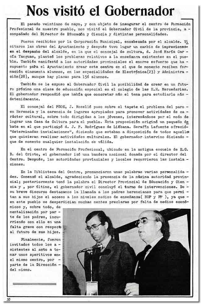 """Artículo original publicado en el informativo local """"La pedriza"""""""