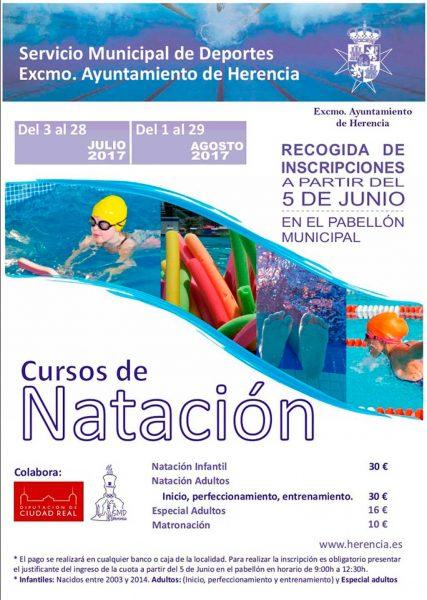 Cartel de los cursos de Natación