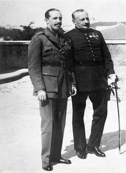 El rey Alfonso XIII y el dictador Primo de Rivera