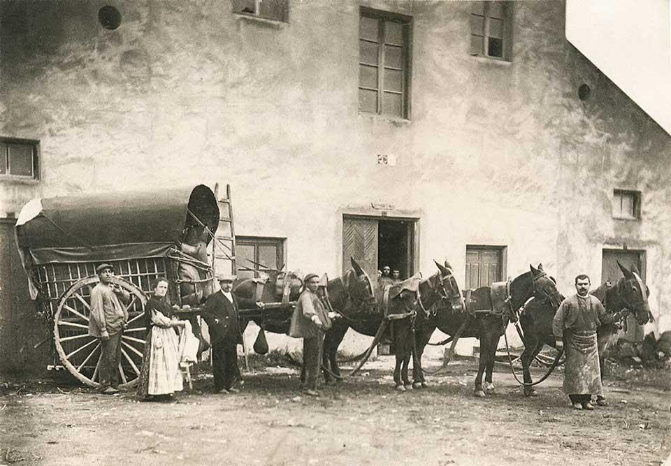 Fábrica de alcoholes y aceites de finales del siglo XIX.